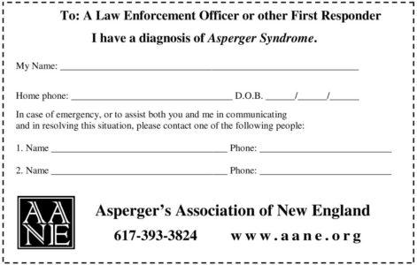 AANE Disclosure Wallet Card