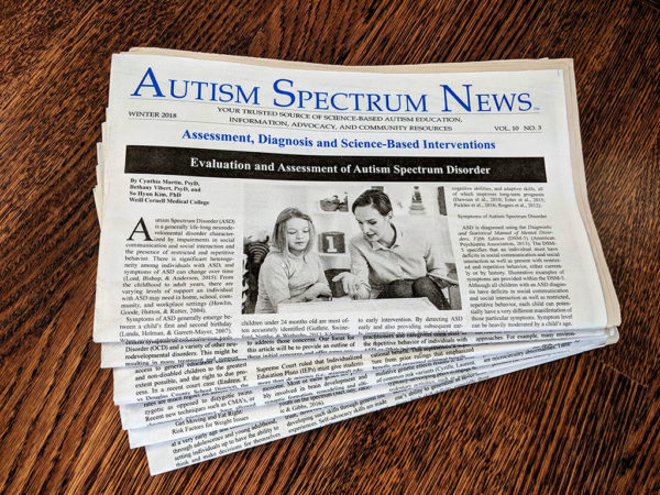 Subscibe to Autism Spectrum News