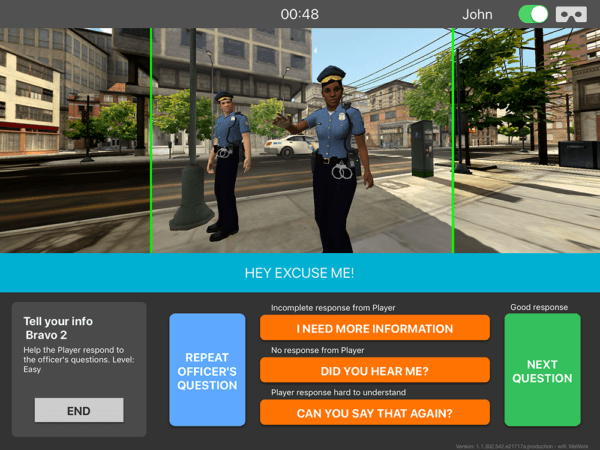 CHOP autism researchers partnered with tech company Floreo, Inc., and with police departments to create a realistic virtual experience