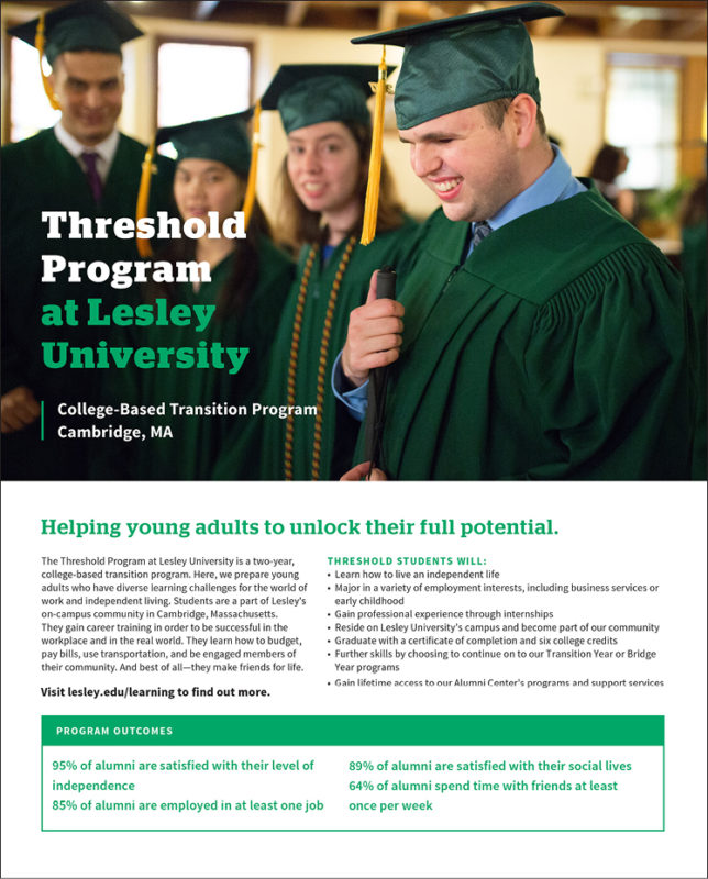 The Threshold Program at Lesley University