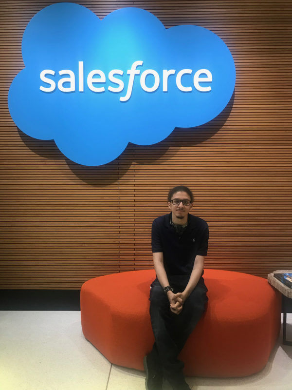 Kristian Goris, who receives support from AHRC New York City's Employment Business Services, has found a home at Salesforce.