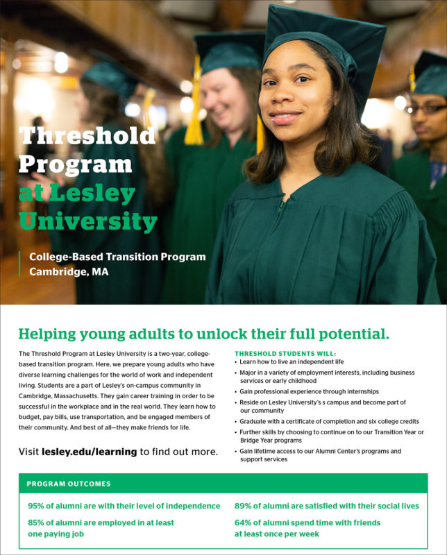he Threshold Program at Lesley University