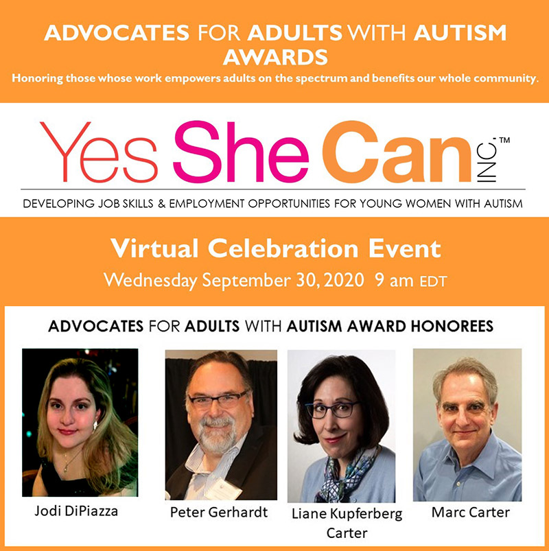 ADVOCATES FOR ADULTS WITH AUTISM AWARDS