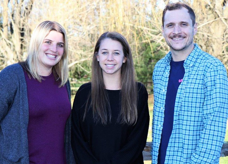 From left to right: Ashley McParland, Kirsten Algor and Edward Sidley