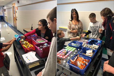 Middle School snack sale