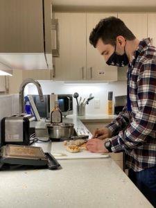 David cooks