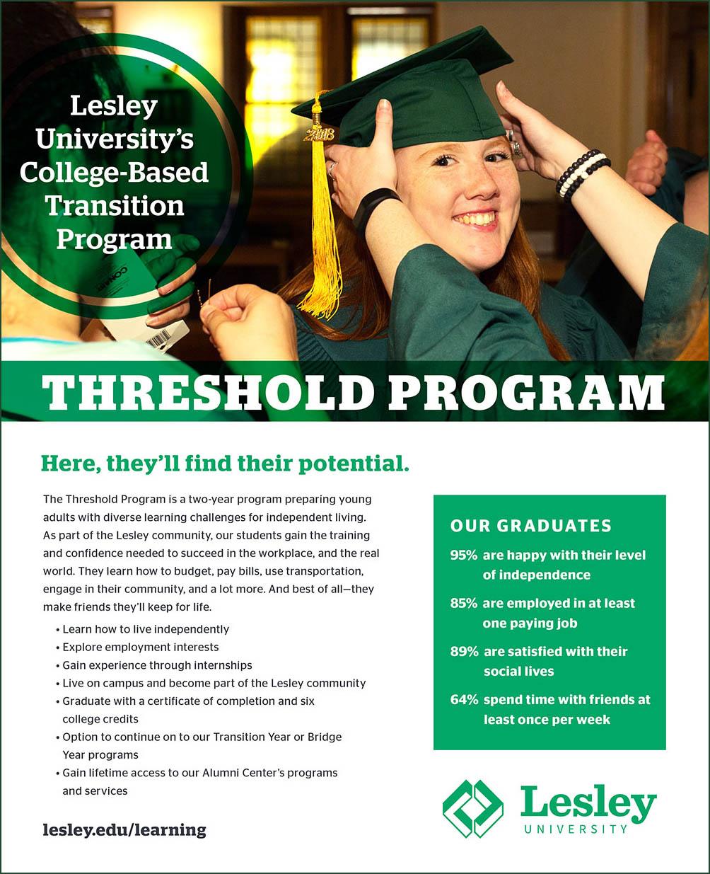 The Threshold Program at Lesley University