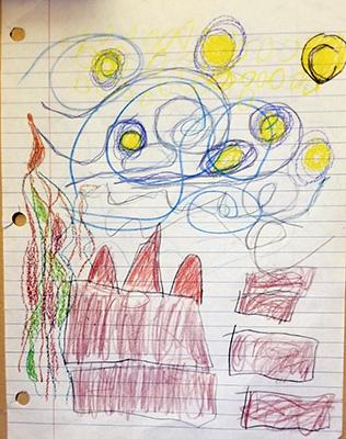 Sydney Danies' interpretation of Van Gogh's Starry Night