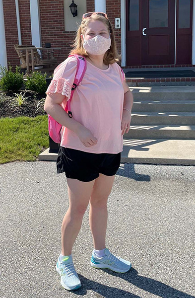 19-year-old, Annie Kelly, is getting ready to transition back to school after more than a year of remote learning.